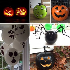 Halloween (Claire-Louise Beyga) Tags: orange black green halloween pumpkin spider scary october vampire crafts painted decoration carving boo ghosts 2015 pumpkinface october31st