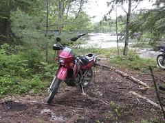 KLR in the campsite (chuck.horne) Tags: madawaska klr