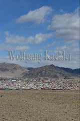 30095414 (wolfgangkaehler) Tags: city asian colorful asia mongolia centralasia mongolian colorfulhouses viewfromhill altaymountains ulgii altaimountains westernmongolia lgii altaymts