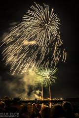 A Firework Frenzy (Ollie Smith Photography) Tags: longexposure november autumn colour night nikon cheshire firework nighttime rockets explosions bonfirenight november5th lightroom runcorn halton firstattempt runcornbridge fireworkdisplay 1685mm d3100 1685afslens