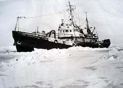 "Тюленебойное судно во льдах Северного Каспия (70-е годы ) • <a style=""font-size:0.8em;"" href=""https://www.flickr.com/photos/127888002@N02/22443260702/"" target=""_blank"">View on Flickr</a>"
