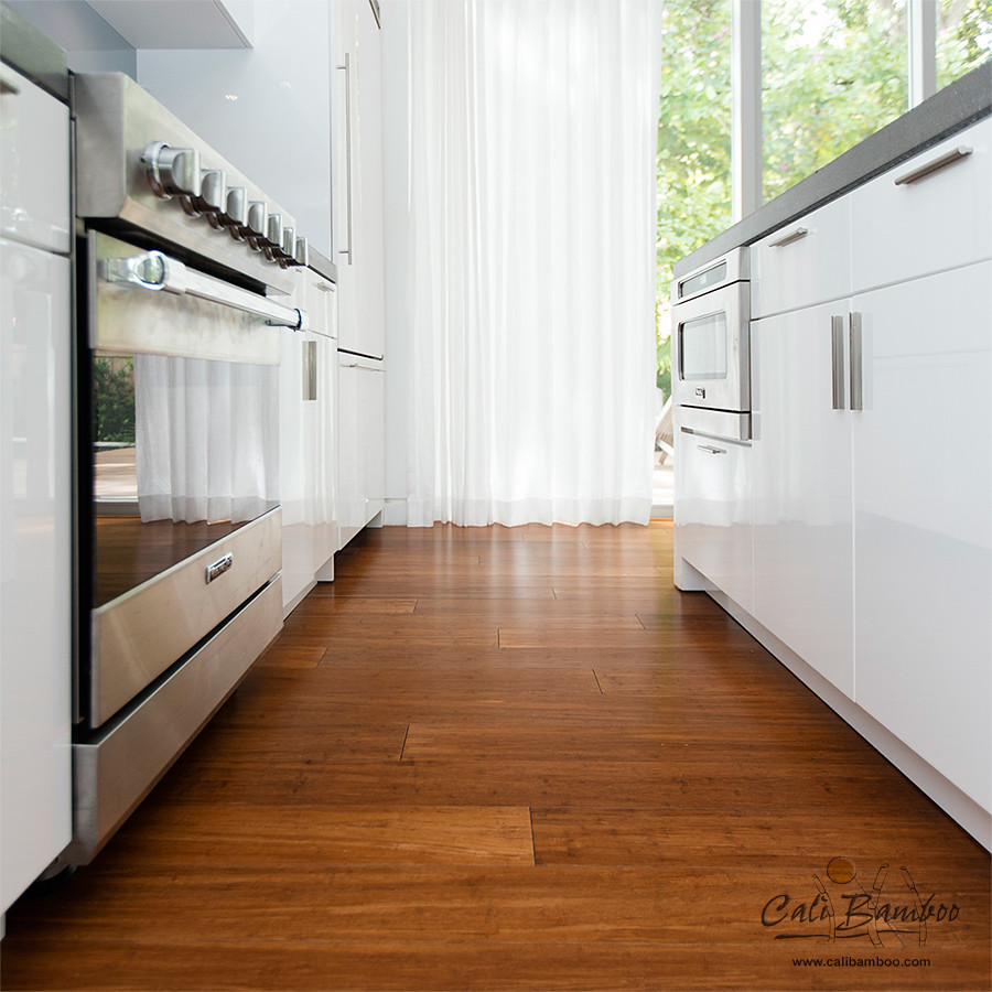 Bamboo Floor Kitchen Solid Bamboo Flooring Java Fossilizedar Strand Woven Floors