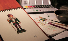 Nutcracker (Through the lens of a local) Tags: christmas red white man color colour green art water pencil painting beard gold doll groen drawing kunst decoration pop watercolour nutcracker figurine rood wit kerstmis aquarel verf kerst goud tekening kleur penseel kleuren beeldje baard decoratie kwasten waterverf notenkraker