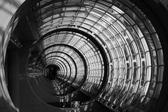 Warp 2 (Jane Inman Stormer) Tags: california blackandwhite window monochrome architecture modern circle sandiego tube tunnel conventioncenter distance onepointperspective