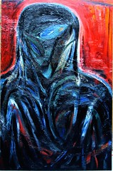 painting 90s oil on acr o hdb fatima's blue eye130x85.5cm