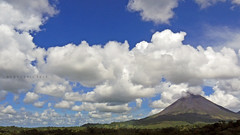 volcano and clouds
