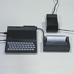 SINCLAIR ZX81 Computer & Printer (vicent.zp) Tags: vintage computer printer 1981 sinclair zx81 dscn1655