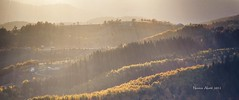 (Novica Alori) Tags: autumn light sunlight contrast landscape countryside haze stream scenic hills layers rays luminance selo luminant snop svetlost difuzno