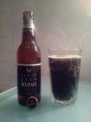 Stout black beer from Hite Jinro Co. ltd,  Korea (m_y_eda) Tags: beer bottle ale korea garrafa flasche botella stout bouteille blackbeer bottiglia  butelka