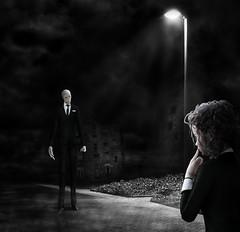 Slender in the Dark (Bel's World) Tags: daz 3dmodeling slenderman creepypasta urbanlegend scary kidnap lure tempt frighten enslave beckon