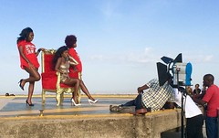 "Making of a video from an Ugandan singer on the top of the KICC Kenyatta International Convention  Center.  Nairobi. Kenya. Jan 2016 #itravelanddance • <a style=""font-size:0.8em;"" href=""http://www.flickr.com/photos/147943715@N05/29548195704/"" target=""_blank"">View on Flickr</a>"