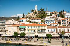 Hydra - Hilltop Clock Tower Overlooking Harbour (Le Monde1) Tags: greece island hydra port coast monastery greek lemonde1 nikon d800e saronicislands aegean sea town hilltop clock harbourside
