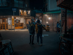 . (Elliott Fusy-Pudal) Tags: osaka temma street shop food night neonlights bar izakaya