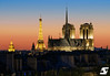 Perfect sunset (A.G. Photographe) Tags: anto antoxiii xiii ag agphotographe paris parisien parisian france french français europe capitale toureiffel eiffeltower notredame sunset nikon sigma 150600 lesinvalides