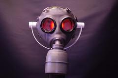 GAZ-GAZ: Gas mask lamp (irecyclart) Tags: lamps lights