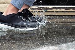 Splash! (nickalday) Tags: fun rain splash freezemotion motion play puddle