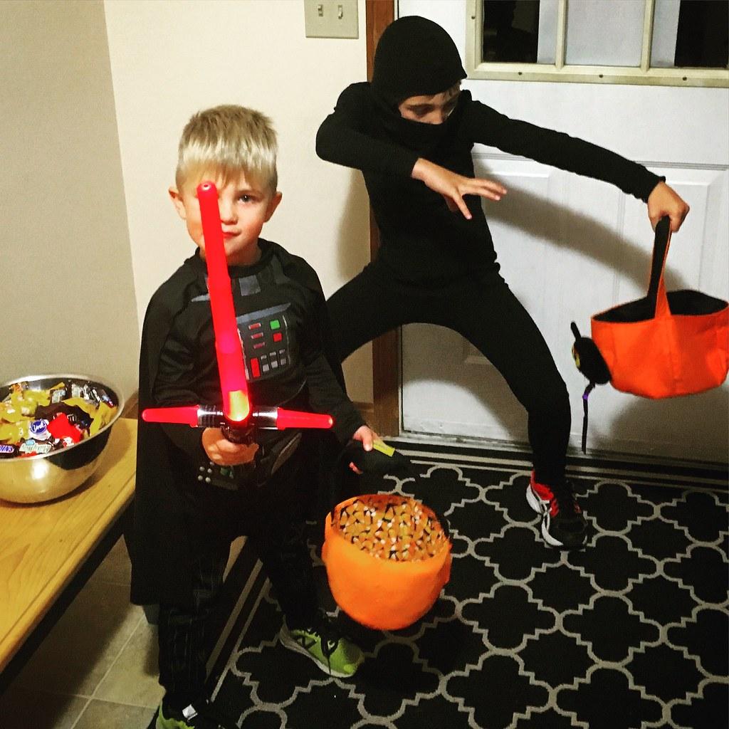 halloween 2016 hs homemade no weapons ninja es darth - Juno Halloween