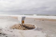 No. 25 (peaflockster) Tags: california beach pacificocean pacificbeach lifeguardtower 25