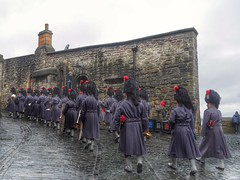 Follow the leader (kriswoods2322) Tags: edinburgh band castle cobbles wetday scottishregiment fortress historic city