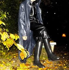 PVC Rainwear and Nora Rubber Riding Boots (Gummifreak) Tags: pvc rainwear rubberboots