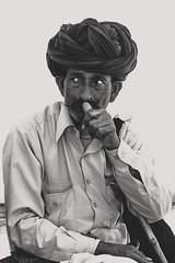 Proud Herder (Karunyaraj) Tags: pusharfair pushkar bnw potrait blackandwhite herder camelherder cigratte proud cwc cwc561 chennaiweekendclickers nikond610 nikon24120 fullframe