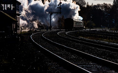 On the bend (Peter Leigh50) Tags: great central railway swithland sidings semaphore signal cabin box steam engine witherslack hall 6990 gcr
