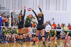 IMG_6884 (SJH Foto) Tags: girls volleyball high school allentown central catholic somerset team teen teenager net battle spike block action shot jump midair