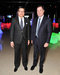 Brian Chu, Chair, Ontario Science Centre, Board of Trustees and Bruce Ross, Group Head, Technology and Operations, RBC (The Ontario Science Centre) Tags: brianchu chair ontariosciencecentreboardoftrusteesandbruceross grouphead technologyandoperations rbc