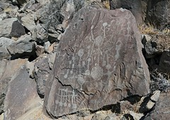 Petroglyphs / Little Lake Site (Ron Wolf) Tags: anthropology archaeology littlelake nativeamerican numicscratching abstract barbell grid petroglyph rockart inyocounty california