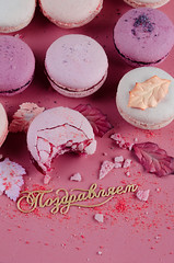 macaroons on a pink background (mouse_adikatz) Tags: macaroons macaroon pink background top view food pastel sweet french colorful macaron cake color bakery tasty dessert pastry traditional snack gourmet cookie delicious biscuit flat bake france flavor confection assortmenteating cream sugar candy object