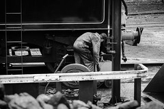 Adding a drop of oil (BL1956) Tags: grosmont england unitedkingdom gb train northyorkshire trainshed steamtrain northyorkmoorsrailway nikon d7000 dslr