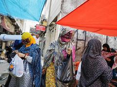 bandar market (Mark Panszky) Tags: burqa mask bandarabbas iran market shopping women