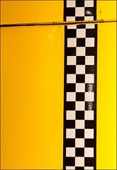 Yellow with black and white checks (ammozug) Tags: yellow checks blackandwhite henryfordmuseum