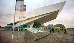 EYE Film Instituut Nederland,  IJpromenade, Amsterdam, Nederland (claude lina) Tags: claudelina nederland netherlands paysbas hollande amsterdam ville city town architecture eyefilminstituut deluganmeissl muse museum cinma