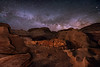 The Drumstick of the Bisti Badlands (Wayne Pinkston) Tags: drumstick turkey thanksgiving badlands desert wilderness bistibadlands newmexico night sky nightsky nightphotography nightscape nightlandscape waynepinkston lightcrafter wwwlightcraftercom wwwwaynepinkstonphotocom star stars milkyway galaxy astrophotography landscapeastrophotography starscape widefieldastrophotography longexposure
