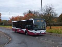 Yourbus 3110 Chaddesden (Guy Arab UF) Tags: yourbus 3110 bd64ncf mercedes benz o530 citaro bus trenton green chaddesden derby derbyshire independent buses