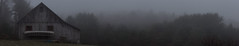 Montague MA, 11.25.16 (koperajoe) Tags: trees landscape westernmassachusetts desaturated forest mist panorama barn newengland tinroof