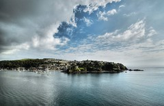 Polruan, Cornwall (suerowlands2013) Tags: polruan riverfowey sea clouds reflection isolated