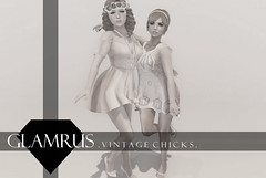 COMING TO FAD - Glamrus. Vintage Chicks AD (Royalty∆) Tags: life new girls friends cute fashion vintage photography posing event secondlife second poses fad sinlges glamrus