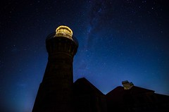 Barrenjoey Lighthouse 02 (Mr Clicker / Davin) Tags: summer lighthouse beach night way stars bay long exposure mr time sydney australia palm davin milky clicker barrenjoey