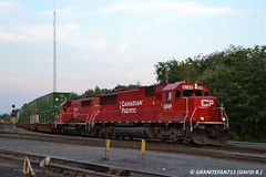 CP 6249 EMD SD60 (258) (Trucks, Buses, & Trains by granitefan713) Tags: railroad yard canadianpacific cp freighttrain emd gp402 sd60 electromotive mixedfreight emdsd60 emdgp402 sunburysub cpsunburysub