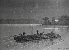 """""""Joe Harper, Huck Finn and Tom Sawyer on board their first prize."""" From """"The Adventures of Tom Sawyer"""" by Mark Twain (1876). First Printing (lhboudreau) Tags: boy boys illustration river mississippi book etching williams drawing illustrations drawings books adventure engraving mississippiriver twain moonlight raft adventures sawyer finn harper childrensbook tomsawyer clemens marktwain rafts bookart engravings hardcover 1876 etchings joeharper samuelclemens huckfinn huckleberry firstedition vintagebook huckleberryfinn vintagechildrensbook vintagebooks firstprinting classicnovel classicbook hardcovers classicbooks adventuresoftomsawyer theadventuresoftomsawyer hardcoverbooks hardcoverbook classicstory vintagehardcoverbook classicchildrensbook americanpublishingcompany firstamericanedition vintagehardcoverbooks theamericanpublishingcompany theamericanpublishingco americanpublishing americanpublishingco twwilliams truewwilliams truewilliams"""