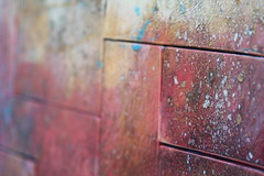 Splattered Bricks (Read2me) Tags: she abstract colors lines wall colorful dof ge pree cye thechallengefactory