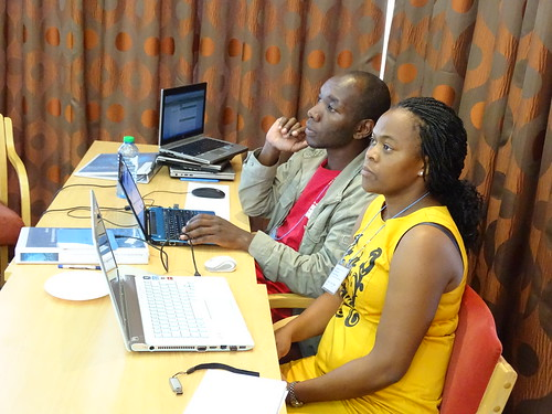 Juliah Khayeli from Jomo Kenyatta University of Agriculture and Technology, Kenya a participant of the Advanced  Bioinformatics Workshop 2015