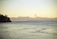 12 Years Ago: Lime Kiln Point (Tony Pulokas) Tags: 2003 fall autumn washington sanjuanislands harostrait straitofjuandefuca sanjuanisland limekilnpoint limekilnpointstatepark forestfire wildfire olympicpenninsula olympicnationalpark sunset film