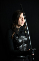 Pensive (shadamai) Tags: halloween diy costume cosplay bow arrows bodyarmor katniss hungergames katnisseverdeen mockingjay