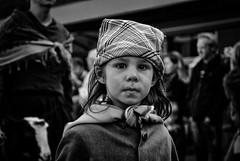 Look me in the eyes (sven.vansantvliet) Tags: children child kinderen folklore kind fanfare oorlog priester honger armoede wilrijk daens geitestoet