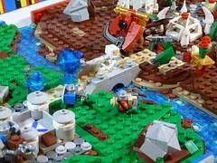 Battle for the Bridge 2 (durazno_33) Tags: lego archer orc spearman legomicrogoldmine