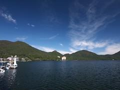 Lake Haruna (elminium) Tags: sky mountain lake japan gunma dmcg1