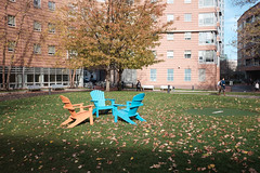 DSCF0554_proc (David Van Chu) Tags: blue orange boston campus ma university fuji chairs massachusetts fujifilm northeastern fujix x100t fujifilmx100t fujix100t